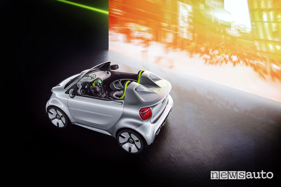 smart forease show car, vista dall'alto