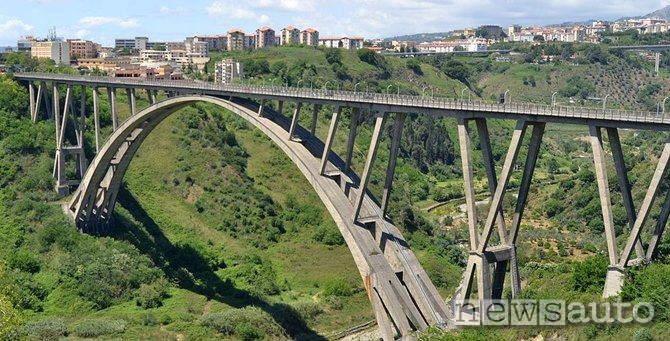 vista nord ponte di Catanzaro