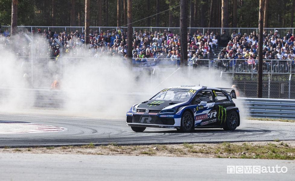 WRX Rallycross 2018 Lettonia, Kristoffersson (Volkswagen Polo R)