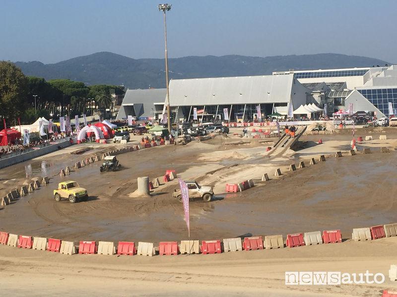 4x4_Fest Carrara 2018, area esterna con le piste
