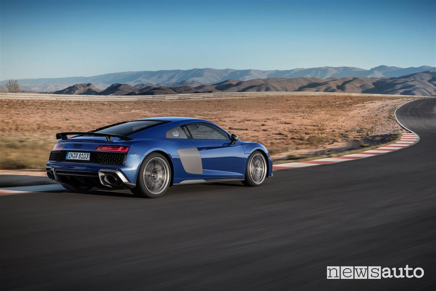 Audi_R8_2019 Coupé, vista laterale