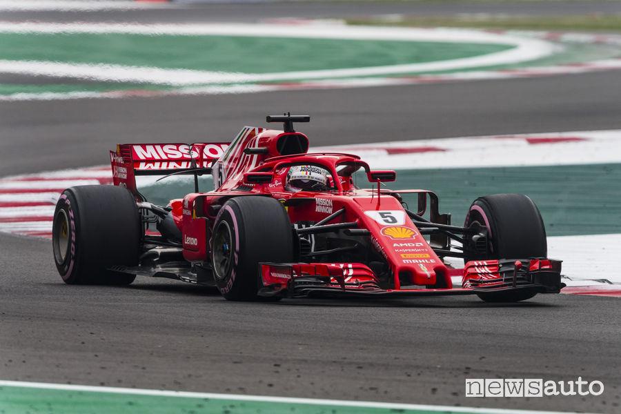 F1 2018 Gp Messico Vettel (Ferrari) calendario Formula 1 2019