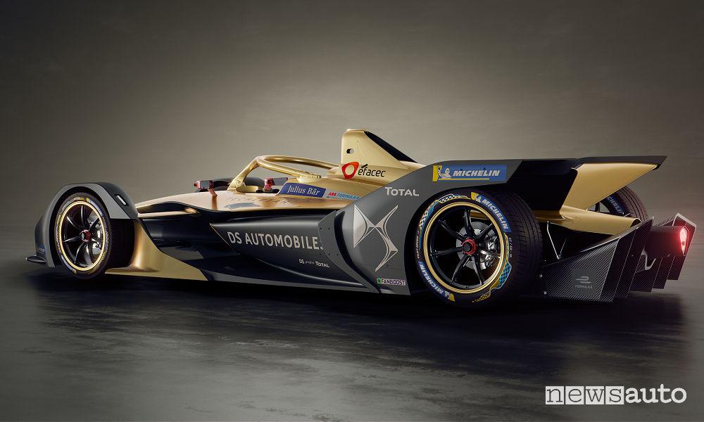 DS E-Tense FE 19 Formula E 2018/19, vista laterale