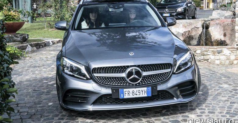 Mercedes Classe C 2018 wagon vista frontale