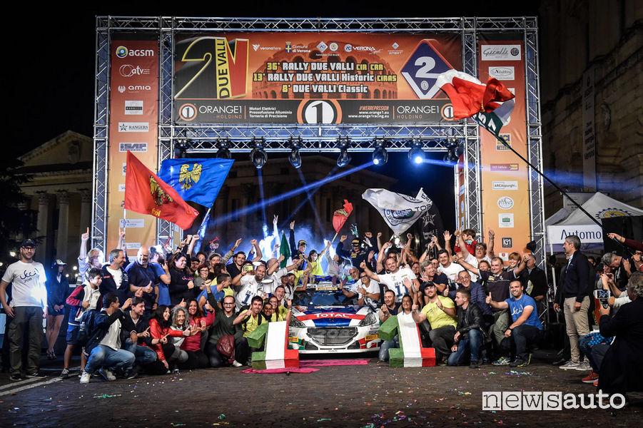 Andreucci e Peugeot Campioni Campionato Italiano Rally 2018