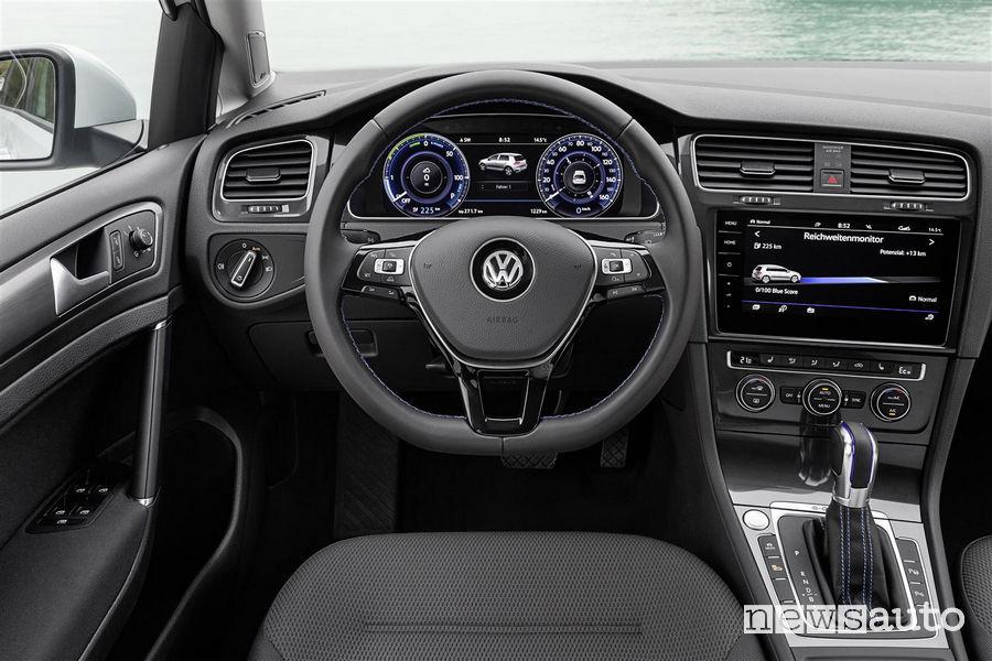 Volkswagen_e-Golf, plancia strumenti