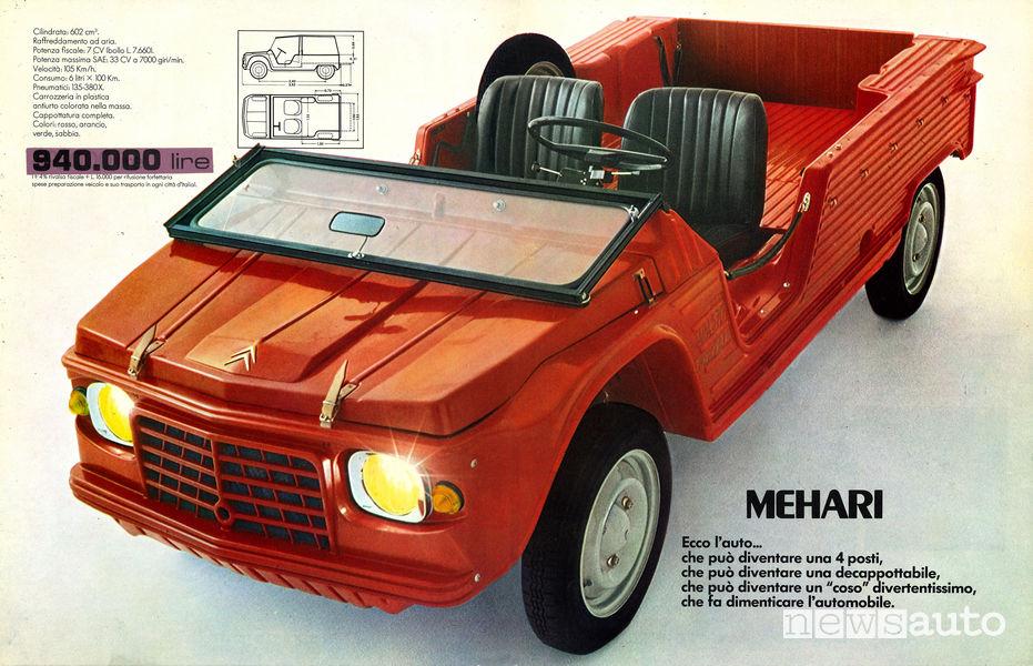Citroen Mehari, volantino pubblicitario