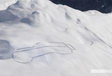 Disegno sulla neve Land Rover Defender