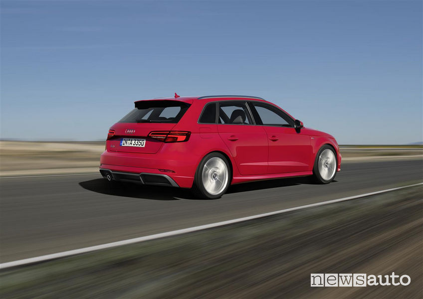 Audi_A3 Sportback 2019, vista posteriore