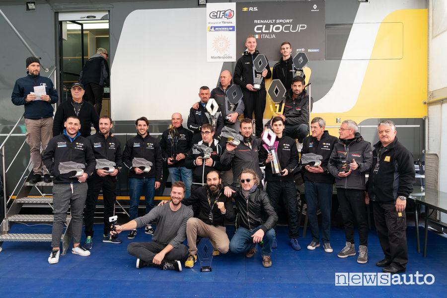 Clio Cup_Italia 2018 Paul Ricard Le Castellet, foto di gruppo