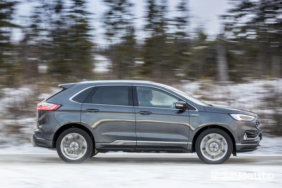 Nuovo Ford_Edge 2019 Vignale grigio scuro, vista laterale