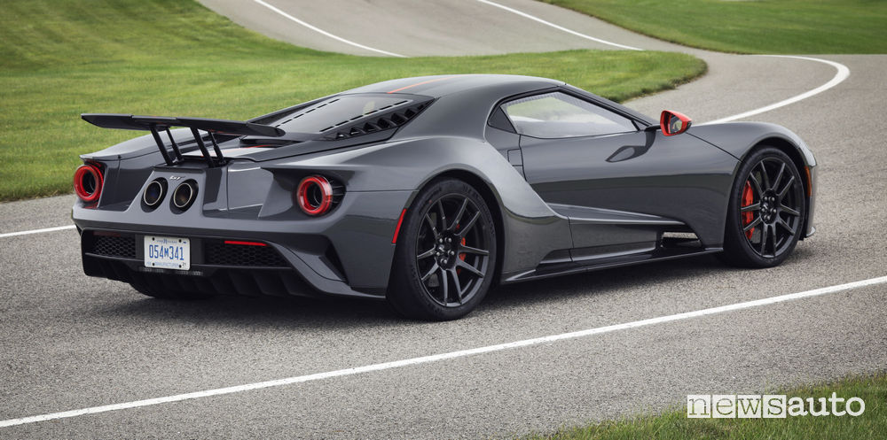 Ford GT Carbon Series, vista posteriore