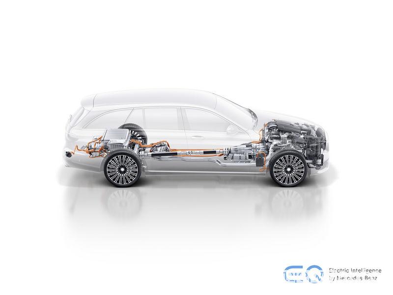 Mercedes-Benz E 300 de, sistema ibrido plug-in diesel