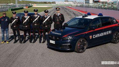 Corso di guida sportiva, i Carabinieri da Andreucci