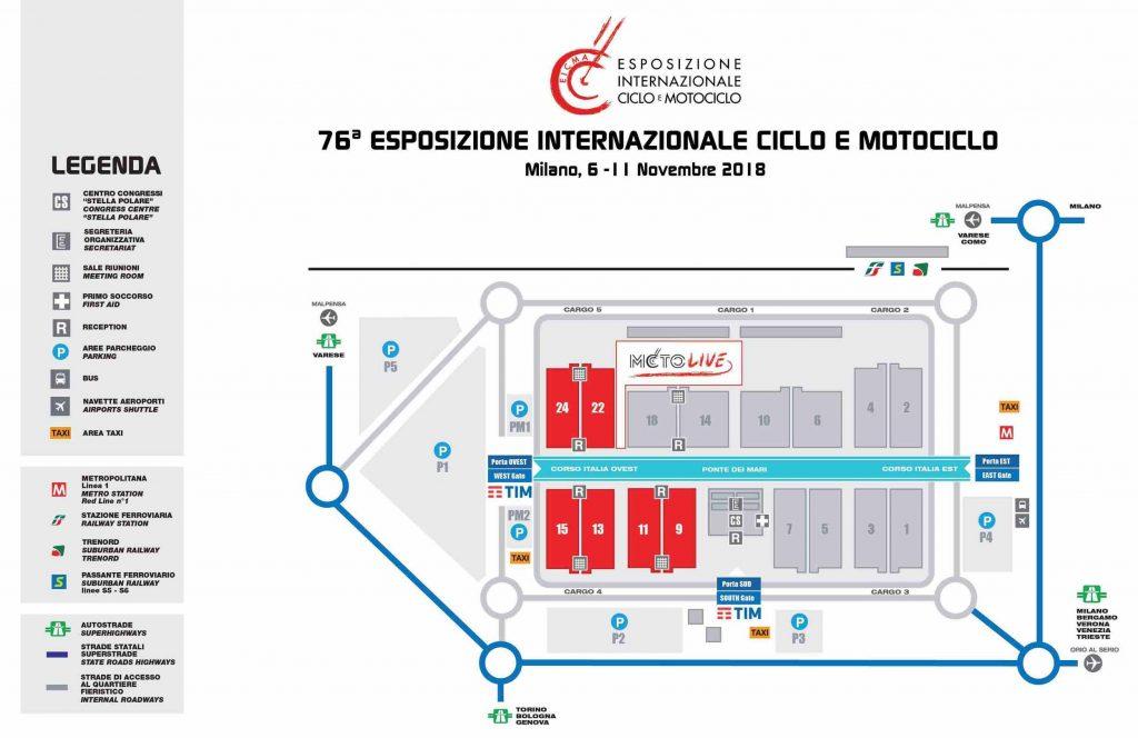 Mappa Salone Eicma 2018