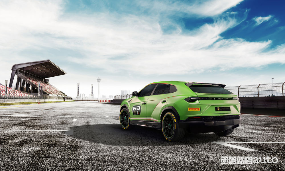 Lamborghini_Urus ST-X Concept, vista posteriore