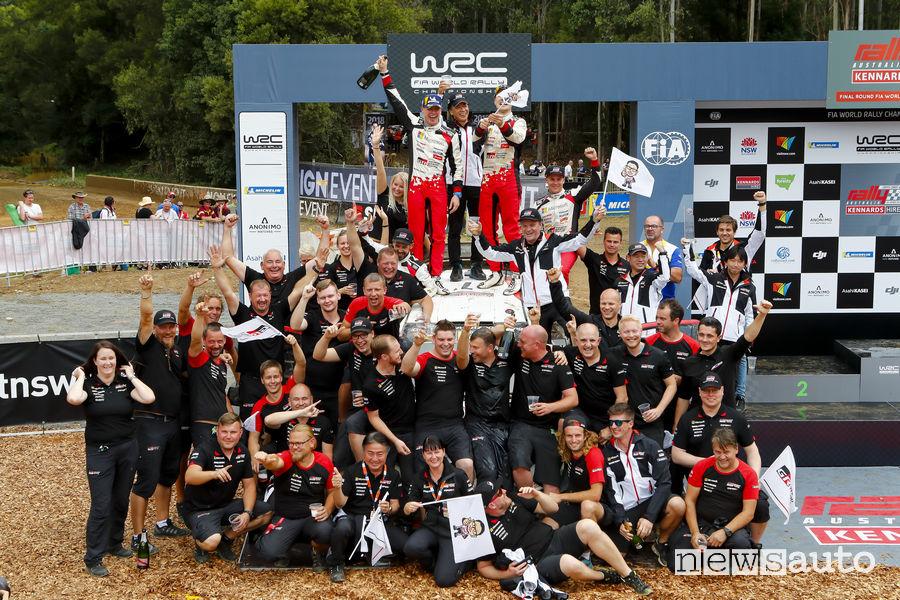 Toyota campione del Mondo Rally 2018