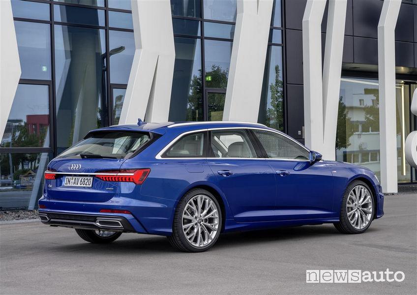 Audi A6 Avanti 2019, vista posteriore