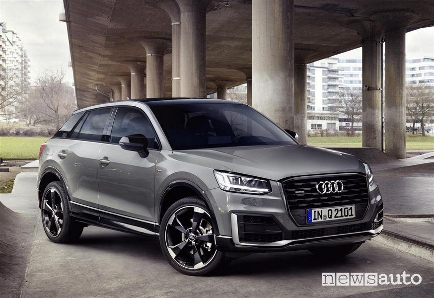 Audi Q2 2019, vista di profilo