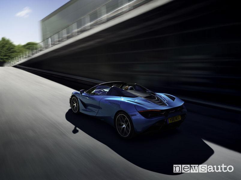McLaren_720S Spider, vista posteriore