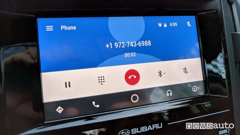 chiamate android auto
