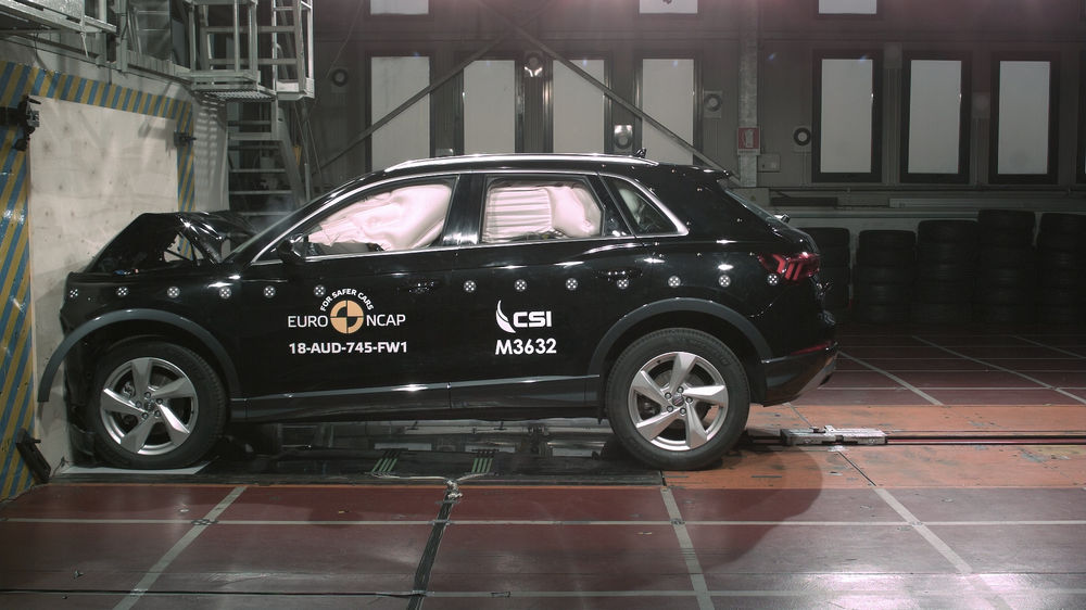 Audi Q3 crash-test Euro NCAP