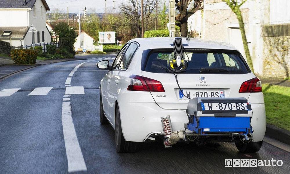 Test RDE emissioni auto su strada