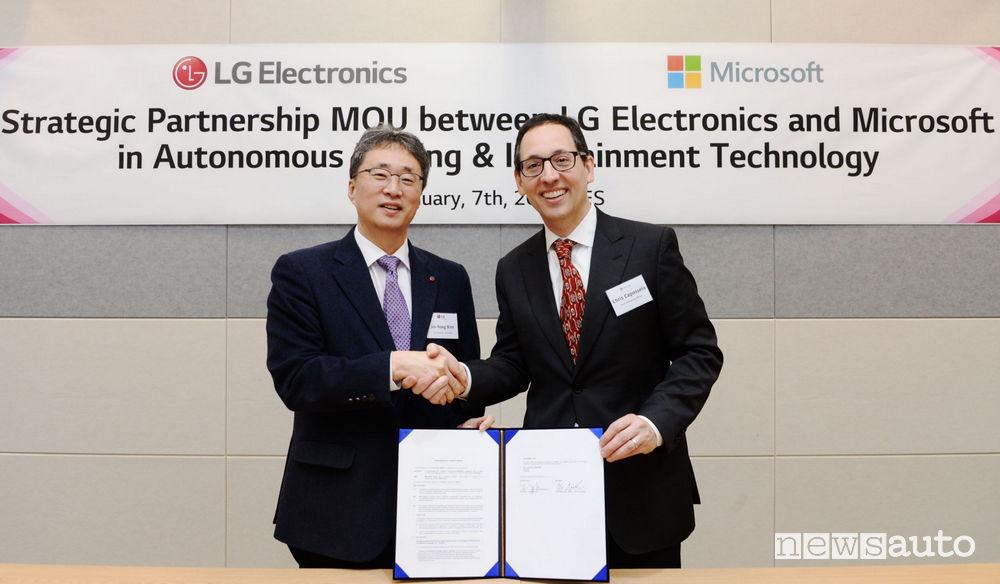 Guida autonoma: novità LG e Microsoft al CES di Las Vegas 2019