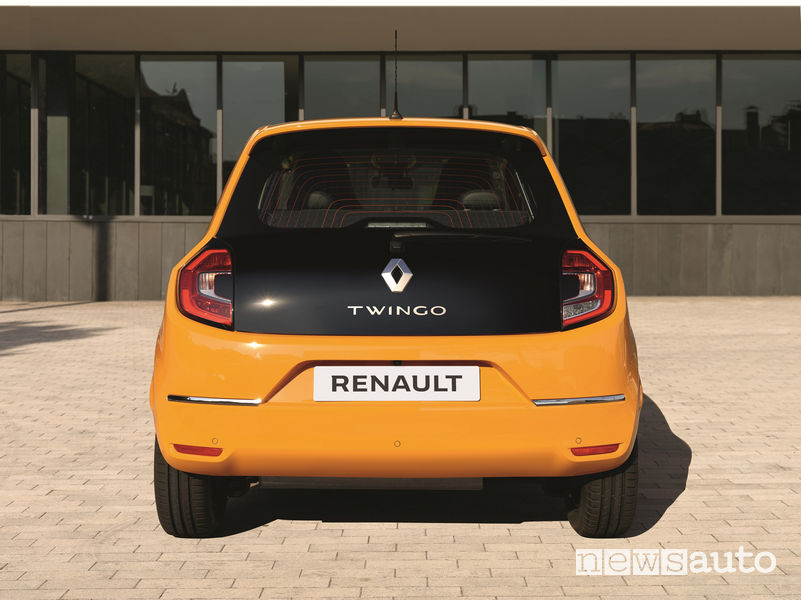 Nuova Renault Twingo, vista posteriore