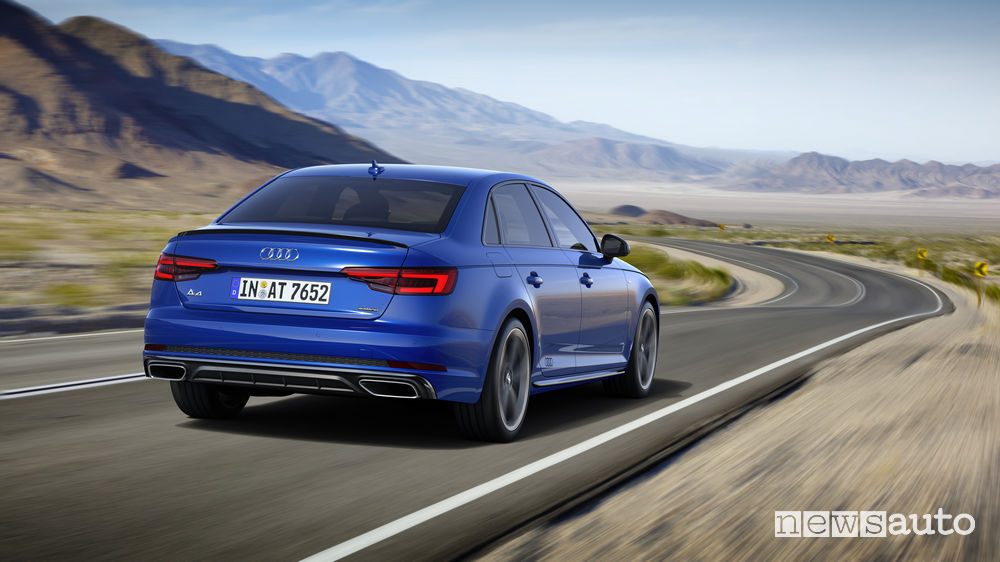 Audi A4 Sedan, vista posteriore