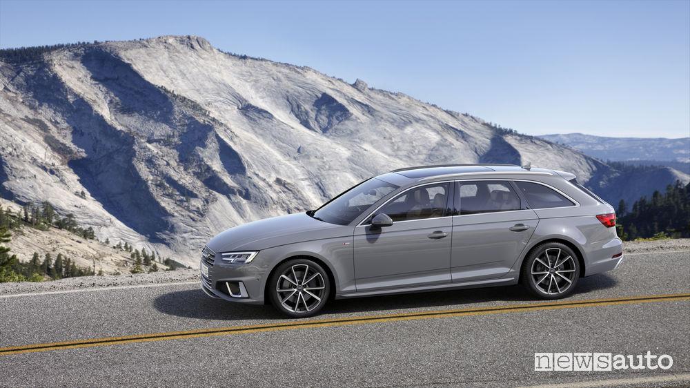 Audi A4 Avant, vista laterale