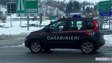 panda carabinieri 4x4 catene