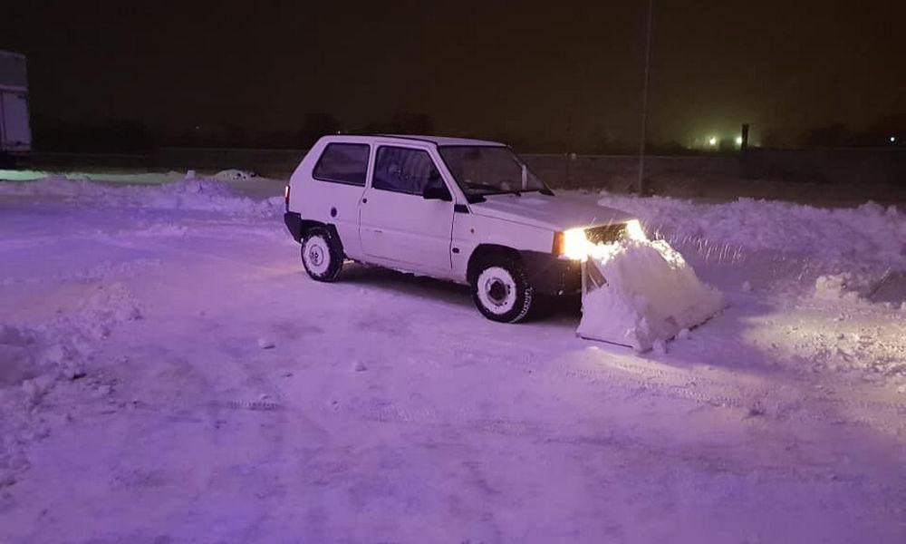Fiat Panda_spazzaneve in azione