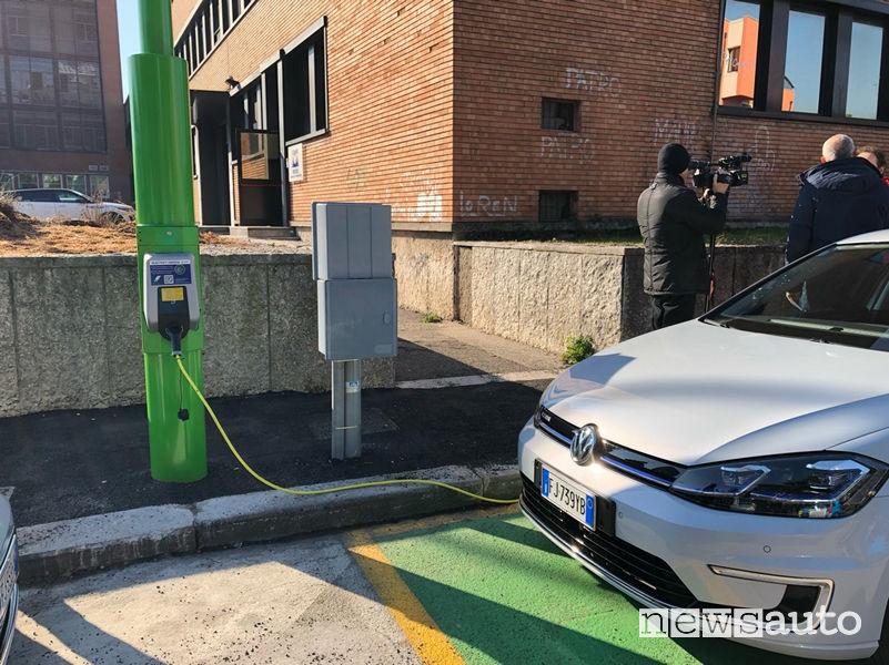 Electrify Verona ricarica auto elettriche dai pali della luce
