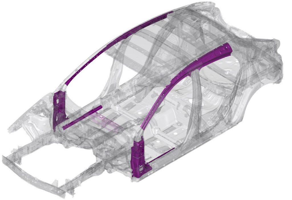 Scocca leggera acciaio più resistente Mazda