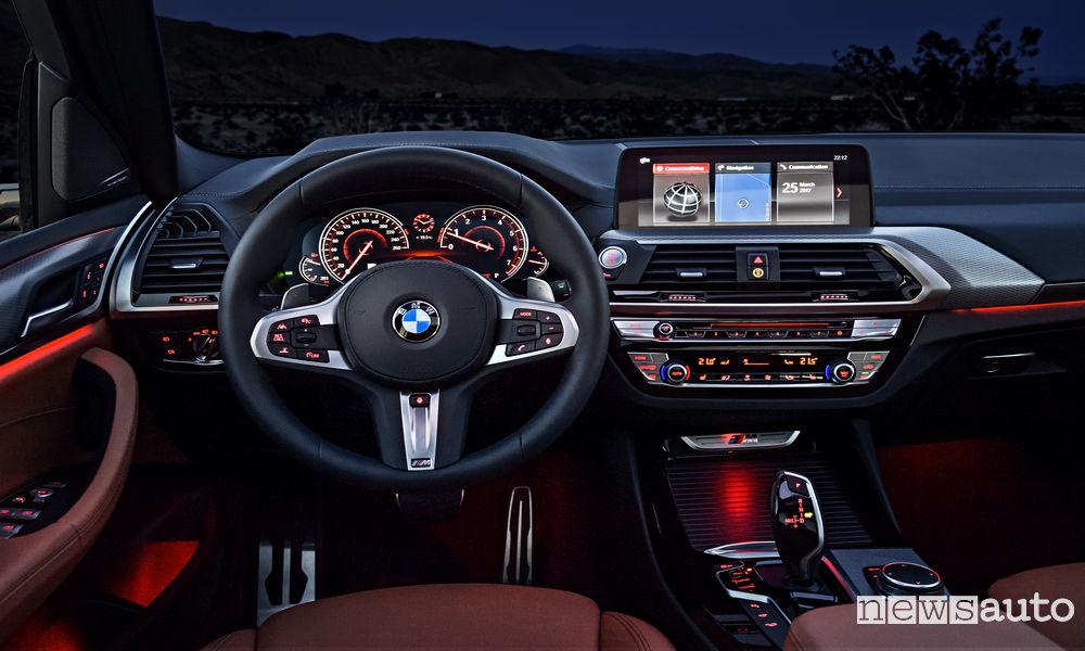 10 SUV più venduti in Italia nel 2018 BMW X3 interni