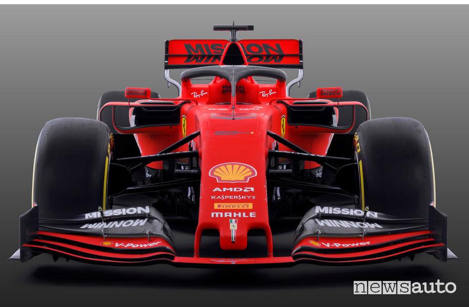 F1 2019 Ferrari SF90, vista frontale