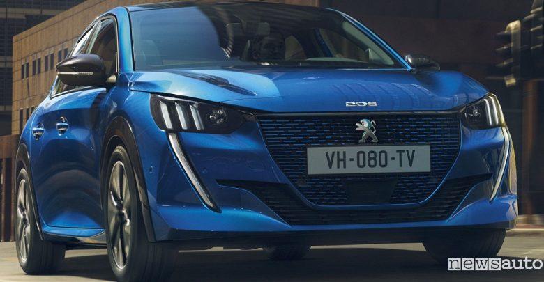 Nuova Peugeot 208 elettrica Ginevra 2019