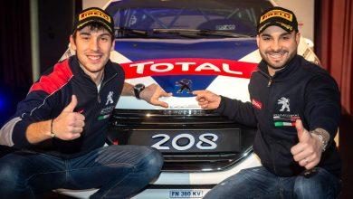 Gonella SX e Ciuffi DX Piloti_ufficiali_Peugeot Rally CIR 2019