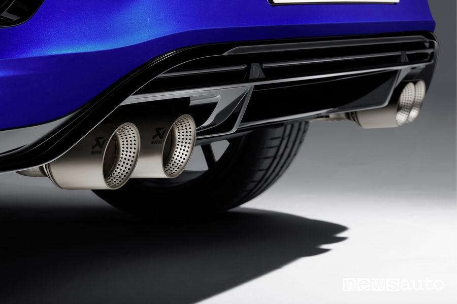 Volkswagen T-Roc R, scarico in titanio Akrapovič