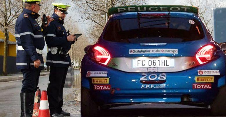 auto-da-gara-rally-polizia- stop alt fermata