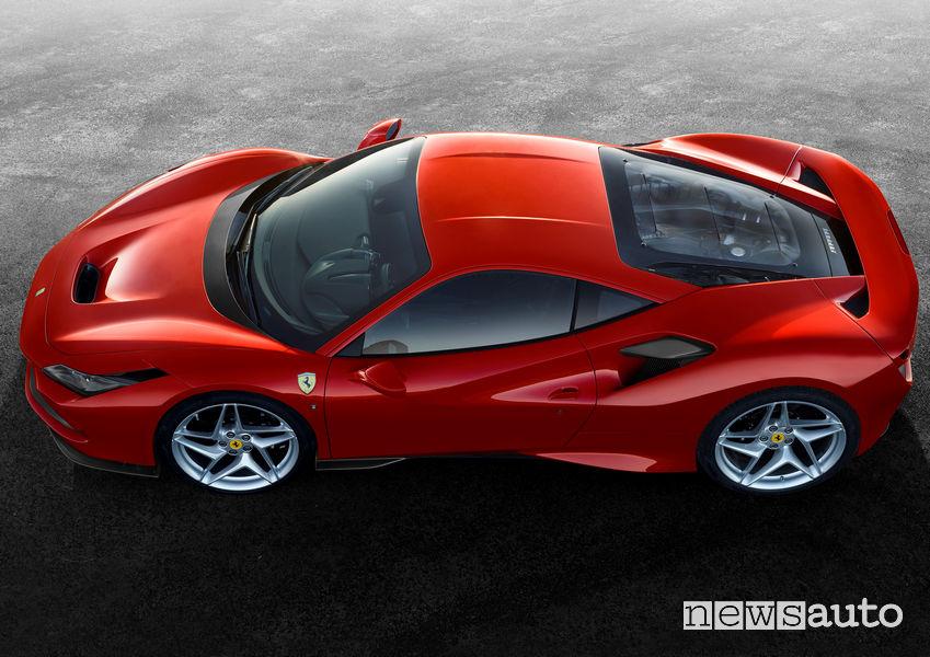 Ferrari F8 Tributo, vista laterale