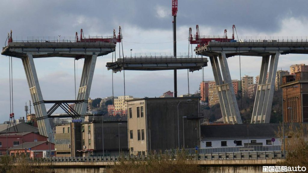 Pile 10 e 11  Ponte Morandi