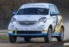 Smart elettrica da corsa Rallycross