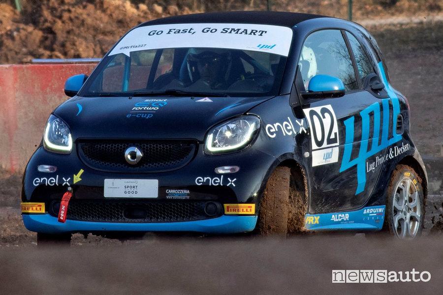 smart EQ fortwo e-cup nel rallycross