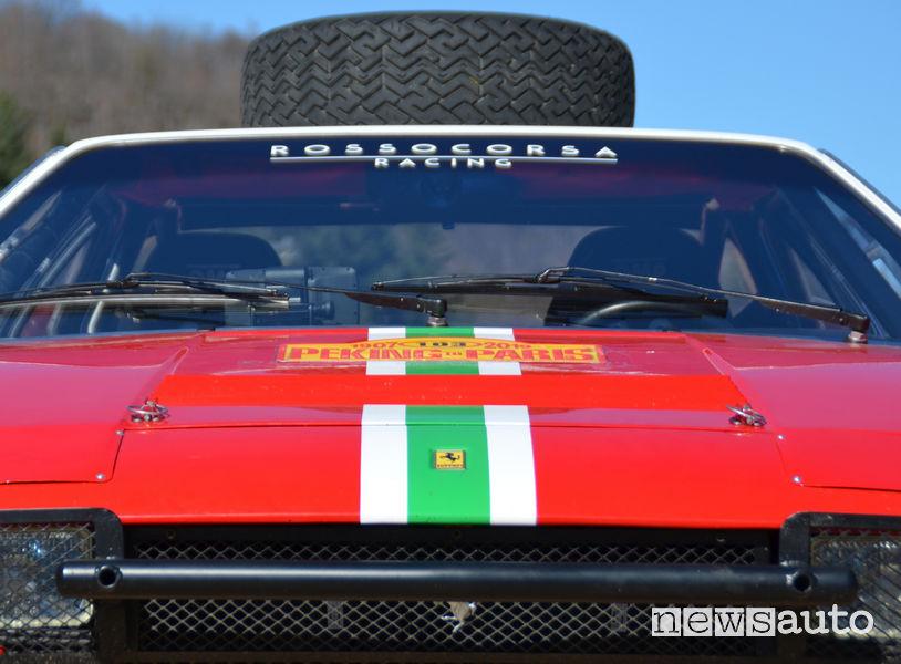 Ferrari 308 Gt4 alla Pechino-Parigi 2019, vista frontale