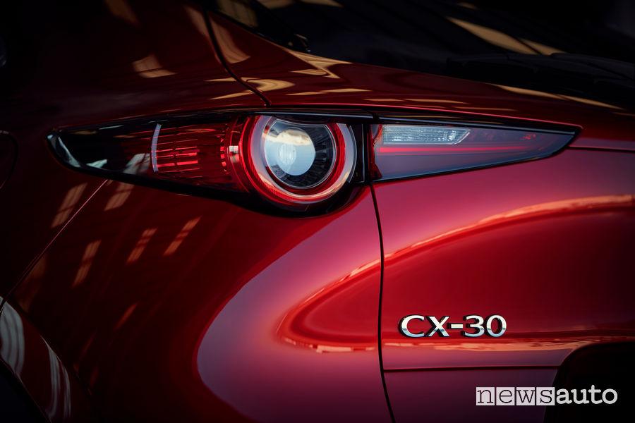 Mazda CX-30, gruppo ottico posteriore