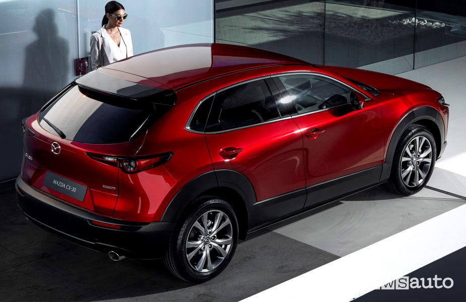 Mazda CX-30, vista posteriore