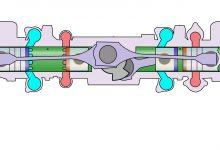 Motore pistoni opposti schema