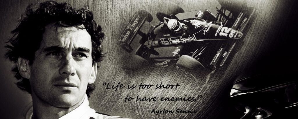 Ayrton Senna un mito intramontabile.